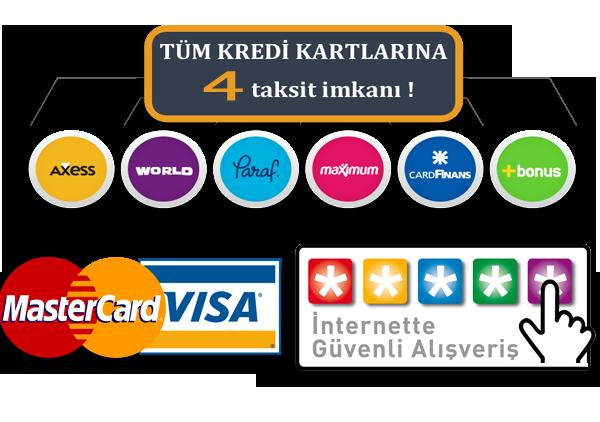Tüm oto lastik siparişlerinizde kredi kartlarına vade farksız 4 taksit kampanyası